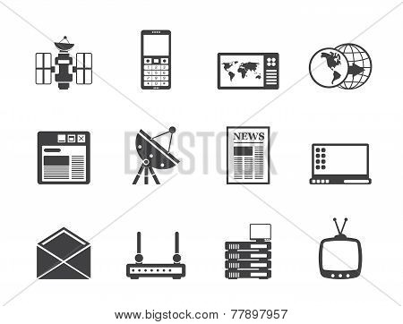 Silhouette Communication and Business Icons
