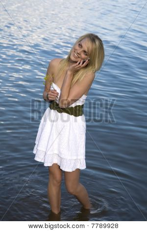 Phone White Dress Water