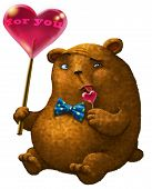 pic of lollipop  - Bear with a big heart - JPG