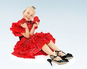 pic of castanets  - little girl in her mother - JPG
