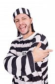 picture of inmate  - Prison inmate isolated on the white background - JPG