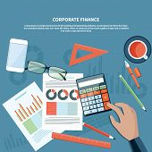 pic of financial management  - Concept of corporate finance - JPG