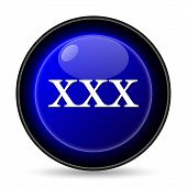 stock photo of pornographic  - xxx icon - JPG