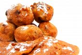 Dutch Donut Also Known As Oliebollen And Apple Turnovers poster