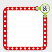 image of ampersand  - red frame for any text with screws and ampersand - JPG