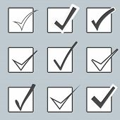 stock photo of confirmation  - Vector confirm icons set - JPG