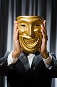 image of pantomime  - Funny concept with theatrical mask - JPG