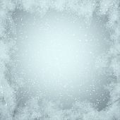 image of snow border  - Winter background - JPG