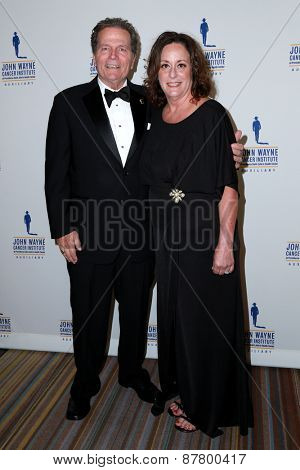 LOS ANGELES - FEB 11:  Patrick Wayne, Anita Swift at the 30th Annual John Wayne Odyssey Ball at the Beverly Wilshire Hotel on April 11, 2015 in Beverly Hills, CA