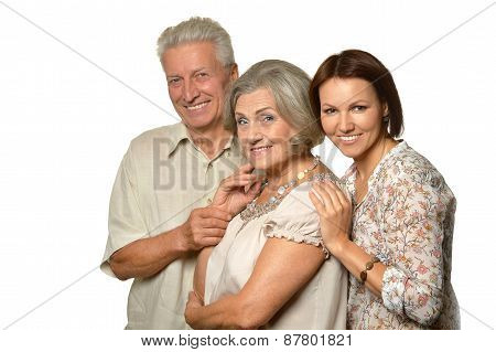 elderly parents with daughter