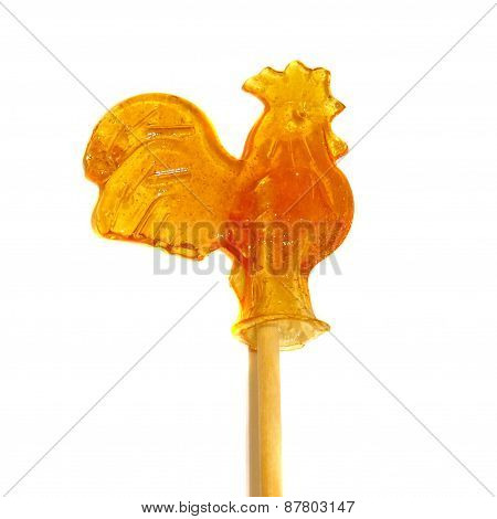 Candy Of Burnt Sugar - Cockerel On A Stick Isolated