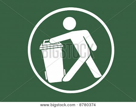Sign of trash bin/ recycle bin symbol