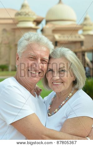 smiling old couple