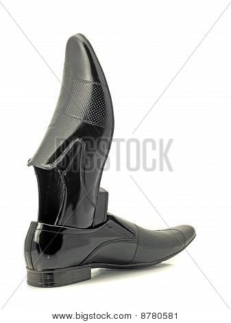 Black Mens Patent-leather Shoes