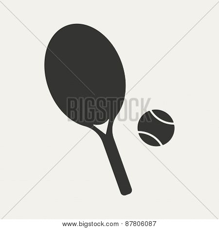 Flat in black and white mobile application tennis