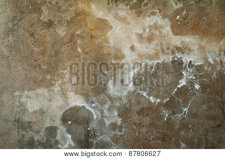 Texture Of Old Wall Covered With Gray Stucco