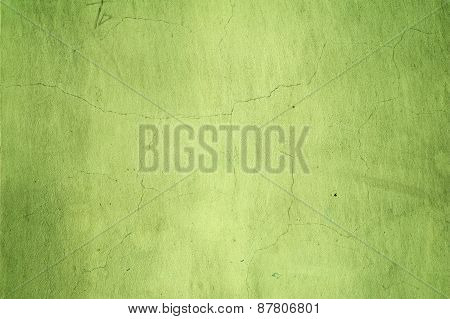 Texture Of Old Wall Covered With Green Stucco