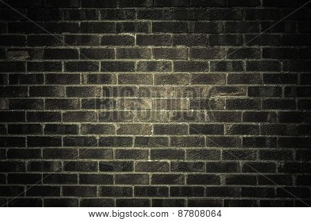 Dark Gray Brick Wall As Texture Or Background. .