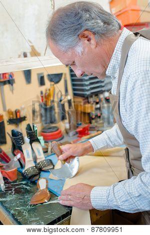 Cobbler hard at work