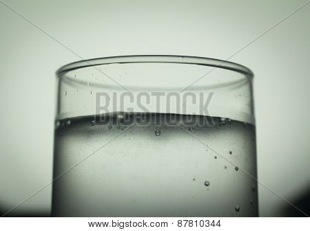 Glass Of Sparkling Water Soft Drink