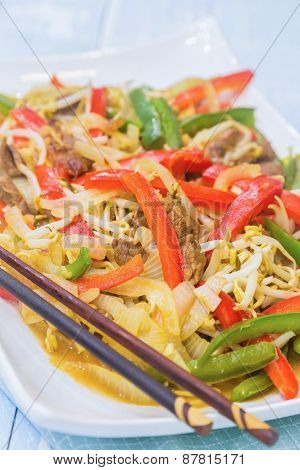 Vegetable Beef Stirfry