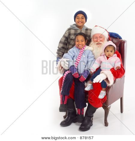 Santa With Children On Lap