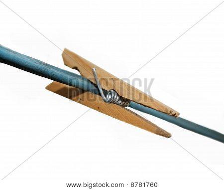 Prendedor de madeira