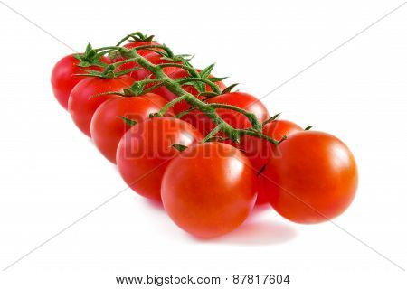 Cherry Tomatoes On A Stalk.