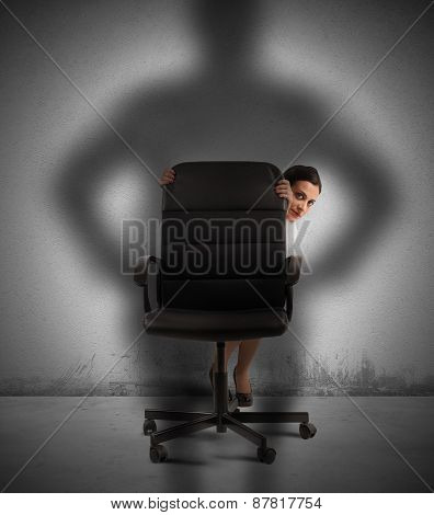 Businesswoman frightened