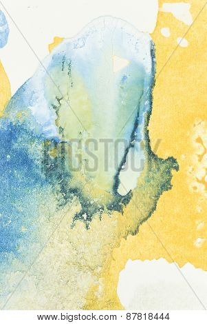 Yellow and Blue Abstract Art Background