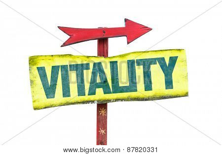 Vitality sign isolated on white