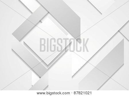 Abstract hi-tech geometric shapes background. Vector design