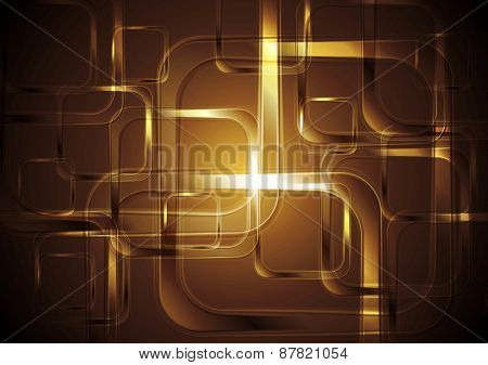 Bright squares abstract tech background. Vector illustration