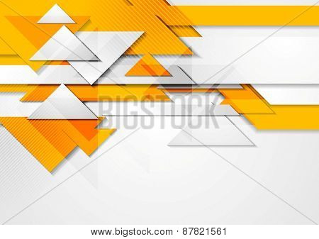 Orange shiny hi-tech motion background. Vector design