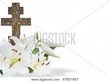 Cross And White Lily