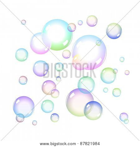 Color Soap Bubbles Set with Transparency