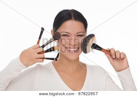 Make up artist isolated on white