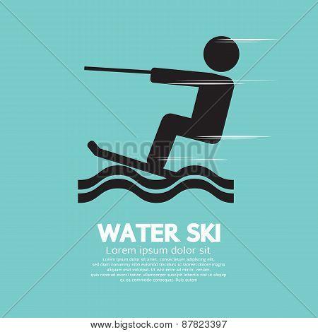 Water Ski Sport Sign.
