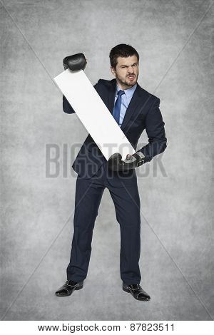 Angry Businessman Business Advertising