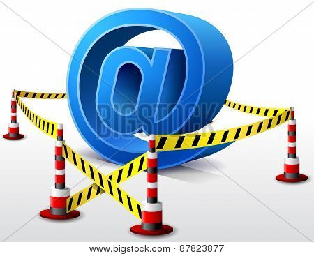 Email Symbol Located In Restricted Area