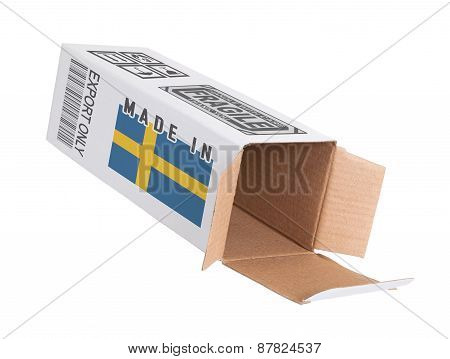 Concept Of Export - Product Of Sweden