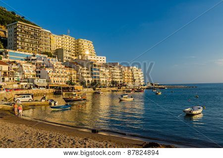 View On Sea Beach And Hotel In Montenegro
