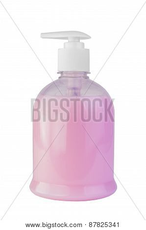 Liquid Soap In The Bottle With A Dispenser