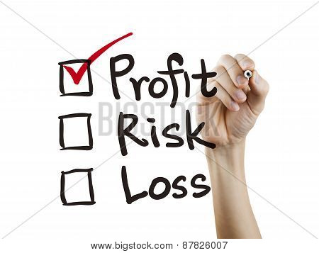 Investment Checklist Checking By Hand