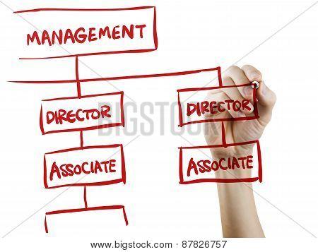 Management Concept Written By Hand