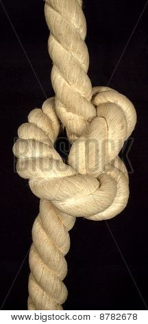 Thick rope fastened in the knot
