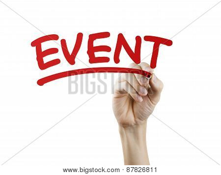 Event Word Written By Hand