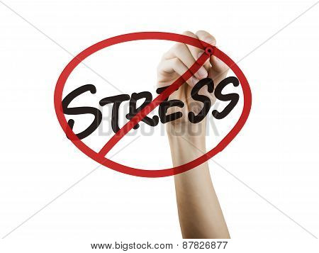 No Stress Words Written By Hand