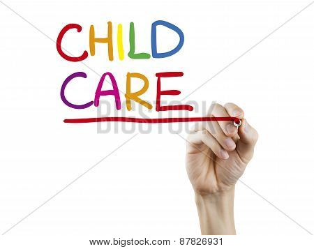 Child Care Words Written By Hand