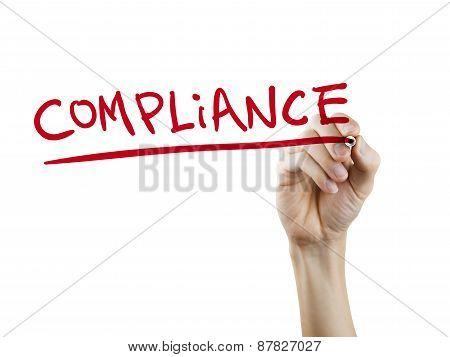 Compliance Word Written By Hand